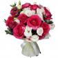 Лизиантус - 10, Роза розовая 50см - 9, Фетр, Лента
